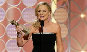 """71st Annual Golden Globe Awards - Show - Season 71This image released by NBC shows Amy Poehler accepting the award for best actress in a comedy series for her role in """"Parks and Recreation"""" during the 71st annual Golden Globe Awards at the Beverly Hilton Hotel on Sunday, Jan. 12, 2014, in Beverly Hills, Calif."""