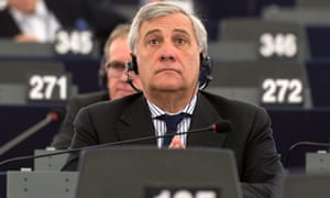 Antonio Tajani, the European People's party nominee for president of the European parliament.