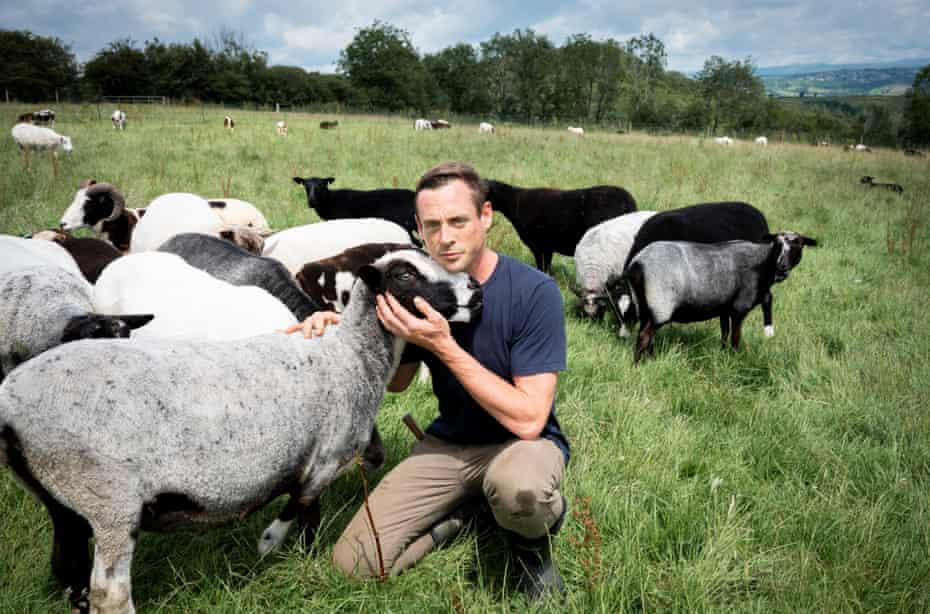 Dan Cox at Melilot, his farm in Cornwall.