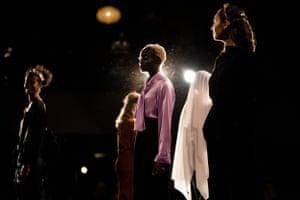 Models wear designs by Arnsdorf