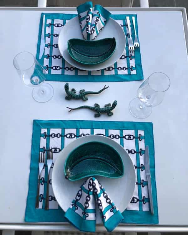 Nick Vinson's tablescapes.