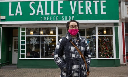 Sandra Malho is worried about the customers who depend on her cafe for some human contact.