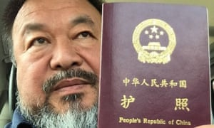 A picture released by Ai Weiwei on Wednesday. Police seized his passport when he was arrested in April 2011 and he spent the next 81 days in custody.
