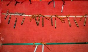 A collection of IED detonators