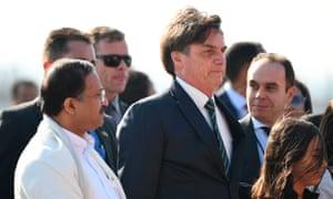 Jair Bolsonaro in New Delhi on Friday.