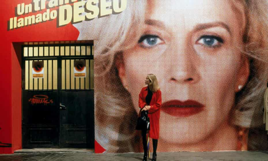 Cecilia Roth in All About My Mother, in front of an advert for A Streetcar Named Desire, screened at Circulo de Bellas Artes.
