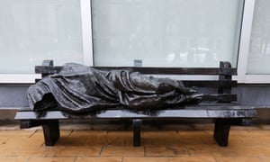 A cast of Homeless Jesus in Toronto.