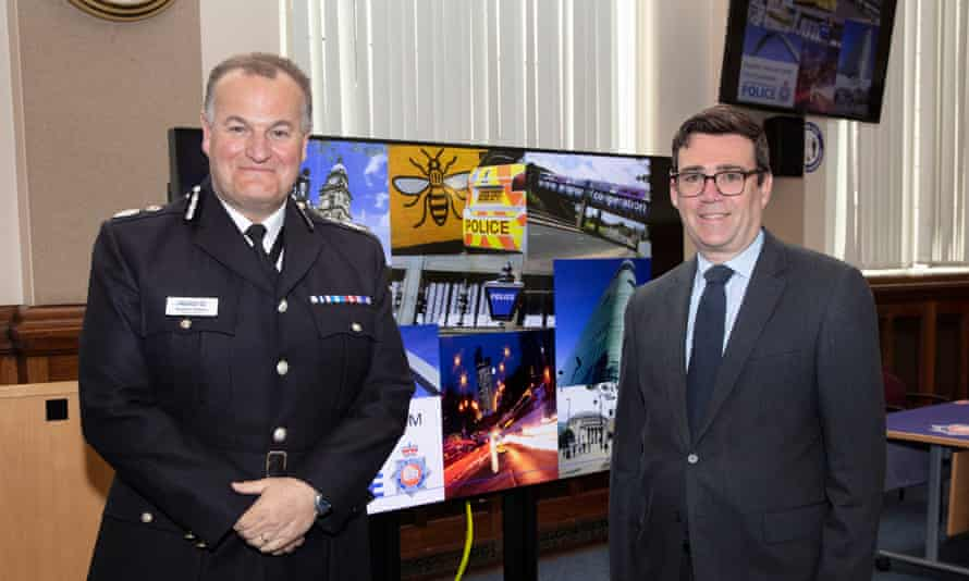 The chief constable of Greater Manchester police, Stephen Watson, left, said the report, commissioned by the region's mayor, Andy Burnham, right, 'doesn't provide all of the answers'.