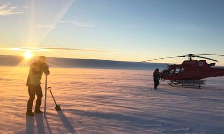 Ben Galton-Fenzi at Totten Glacier, Antarctica, 2019