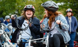 Participants of Just Ride, which runs inclusive drop-in cycling sessions in Southend-on-Sea.