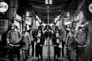 The Shinjuku entertainment district of Tokyo