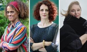 (from left) Bernardine Evaristo, Maggie O'Farrell, Hilary Mantel.