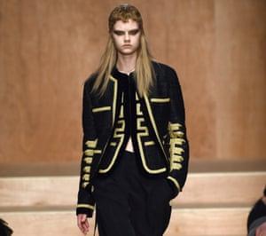 Givenchy's naval jacket at Paris Fashion Week, Autumn Winter 2016.