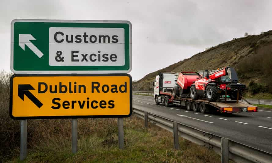 The border between Northern Ireland and Republic of Ireland just outside Newry Co. Down