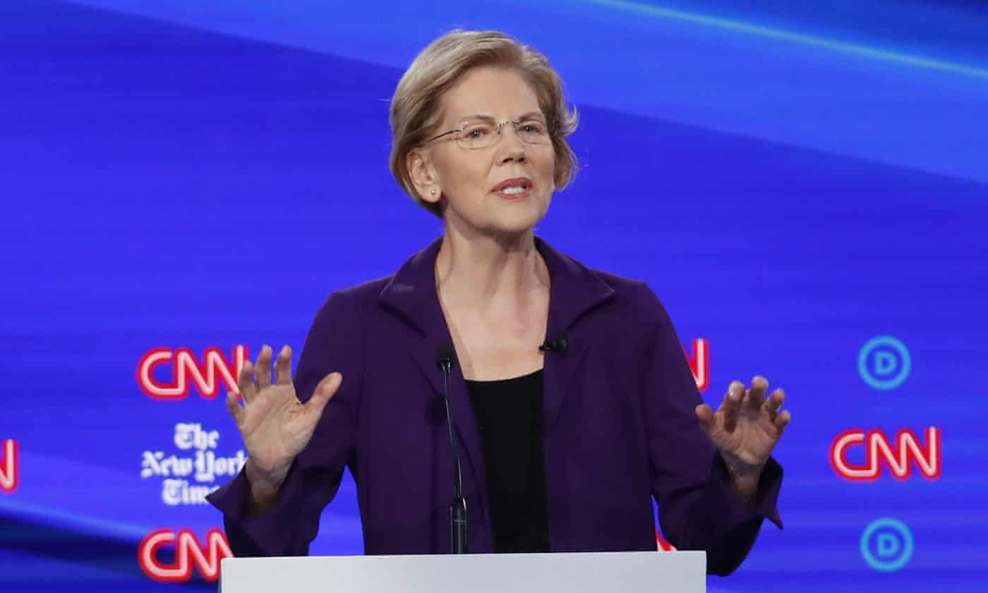 Elizabeth Warren was attacked from all sides in debate – and she barely bat an eye