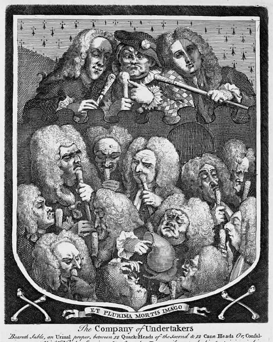 William Hogarth, The Company of Undertakers, 1736.