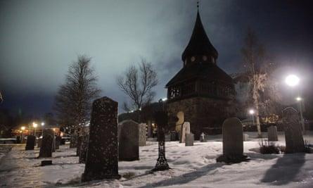 The church in Åre, Sweden.