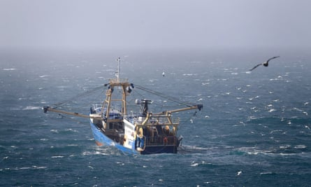 A fishing boat at work in the Channel.