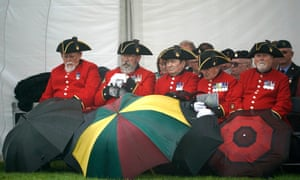 Veterans attend a service of commemoration for Operation Banner in Stafford, England.