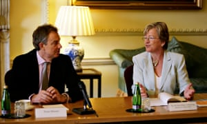 Hilary Armstrong with prime minister Tony Blair in 2007.
