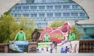 Greenpeace demonstration in Berlin against cheap meat.