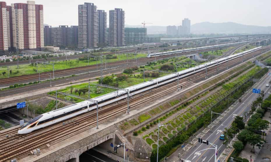 The Beijing-Shanghai bullet train passes through Nanjing.