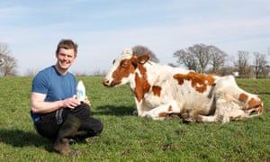 Observer Food Montly Magazine OFM Bryce Cunningham of Mossgiel farms in Mauchline, Kilmarnock in Scotland. Mossgiel farm are 100% single use plastic free.