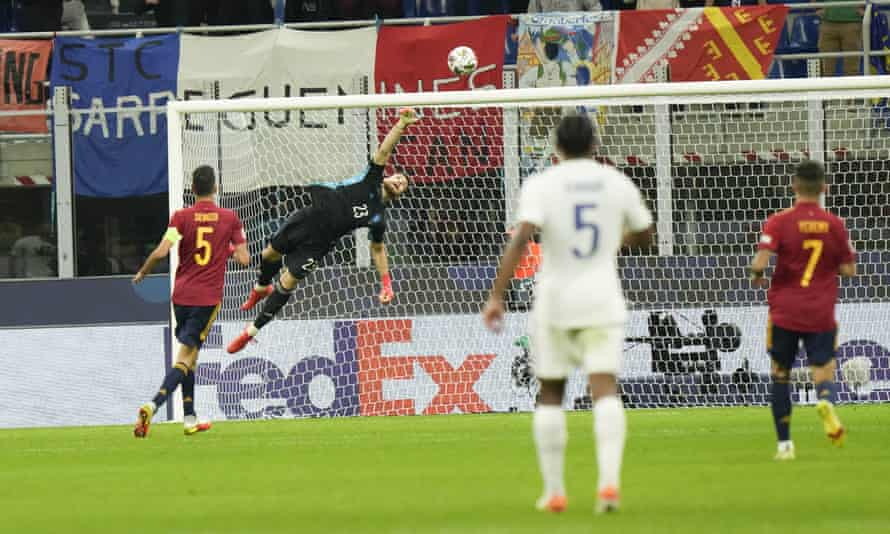 Karim Benzema's shot drops under the bar to give France their equaliser.