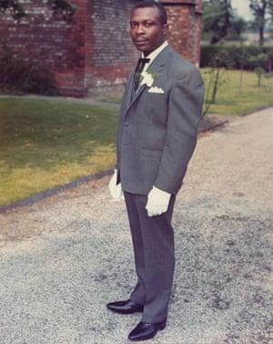 Bernard on his wedding day in 1968
