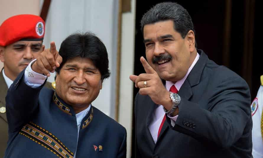 Morales and Maduro in Caracas in 2017.