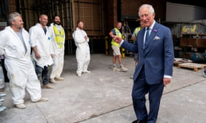 No 5It's well-established that Prince Charles believes all workers to be a figment of his imagination. Here he is, disbelievingly asking a photographer to clarify that these people are real and not just a harrowing hallucination