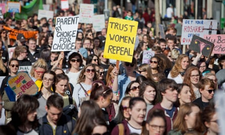 Thousands joined the March for Choice in Dublin on Saturday.