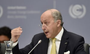 French foreign minister Laurent Fabius UN climate change talks