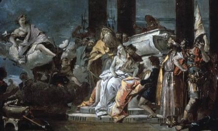 Sacrifice of Iphigenia, by Tiepolo, 1735.