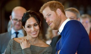 Meghan Markle and Prince Harry during a visit to Cardiff Castle in Wales.