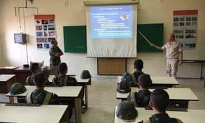 Classes at the de-mining centre, Homs.