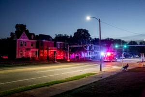 An ambulance drives down Page Boulevard in north St. Louis on Thursday, Sept. 12, 2019. At least 13 children have died of gunshot wounds in St. Louis city this year, and six children in St. Louis Country have been killed by gunfire.
