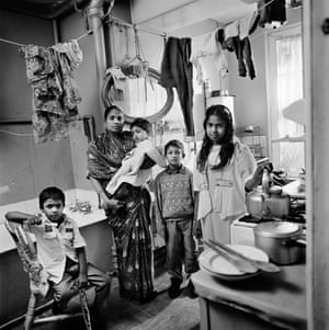 Bengali family in a kitchen