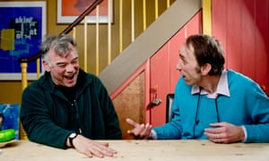 Stewart Lee and Will Self in Self's kitchen