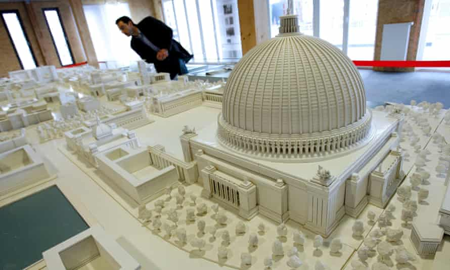 A scale model of Albert Speer's proposed 180,000-seat Great Hall.