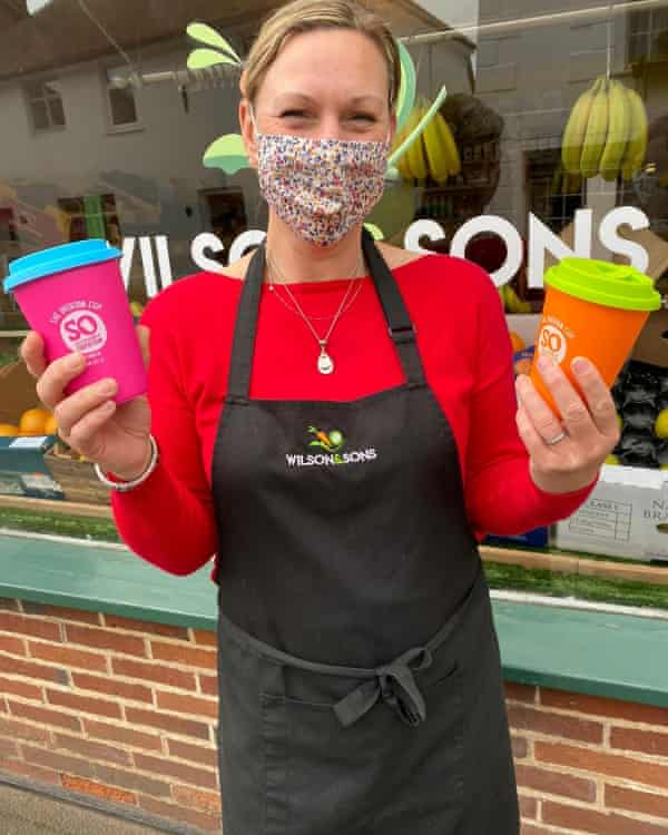 Overton cups are shown off outside the local greengrocer