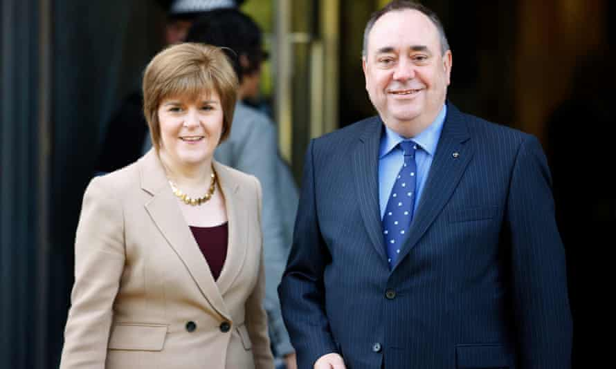 Nicola Sturgeon and Alex Salmond in 2012, when he was Scottish first minister and she his deputy.