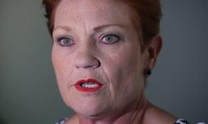 One Nation leader Pauline Hanson.