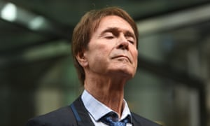 Sir Cliff Richard speaks outside the Rolls Building in London, where he was awarded more than £200,000 in damages after winning his high court privacy battle against the BBC over its coverage of a police search of his home in Sunningdale, Berkshire, in August 2014.