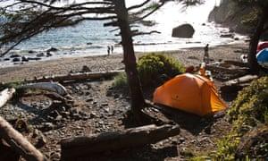 Camping in Juan de Fuca Provincial Park. Vancouver Island