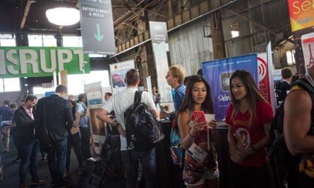 The 2015 TechCrunch Disrupt Summit in San Francisco. Cities allow ideas to be shared and new innovations to be learnt, scaled and deployed.