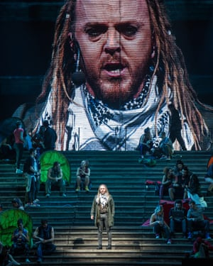 Tim Minchin as Judas Iscariot in a staging of Andrew Lloyd Webber and Tim Rice's Jesus Christ Superstar.