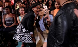 Dias and Rihanna posing for a photo during Black Girls Rock! in New York.