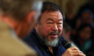 Ai Weiwei at the launch of his Royal Academy exhibition.