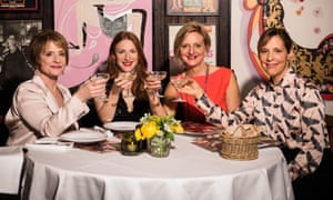 From left: Company's Patti LuPone, Rosalie Craig, director Marianne Elliott, and Mel Giedroyc.